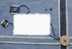 牛仔裤剪贴薄样式 免版税图库摄影