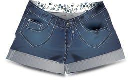 牛仔裤对 向量例证
