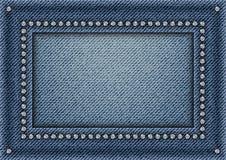 牛仔裤构筑与衣服饰物之小金属片 免版税库存图片