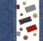牛仔裤标号组 免版税库存照片