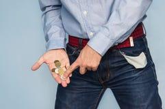 牛仔裤的一个年轻白种人人 免版税库存照片
