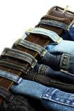 牛仔裤皮带 免版税库存照片
