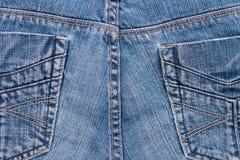 牛仔裤纹理背景 一部分的蓝色牛仔裤 免版税图库摄影