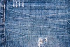 牛仔裤纹理背景 一部分的蓝色牛仔裤 库存图片