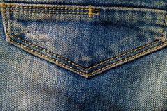 牛仔裤纹理背景 一部分的蓝色牛仔裤 免版税库存图片