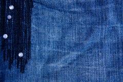 牛仔裤纹理背景 一部分的蓝色牛仔裤 免版税库存照片
