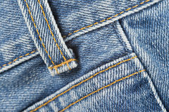 牛仔裤详细资料  图库摄影