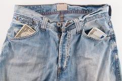 牛仔裤货币 库存图片