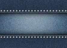 牛仔裤镶边与亮晶晶的小东西 免版税图库摄影