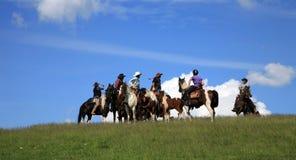 牛仔西部的跑马 免版税图库摄影