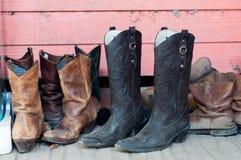 牛仔靴 免版税库存照片