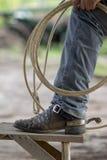 牛仔靴 免版税图库摄影