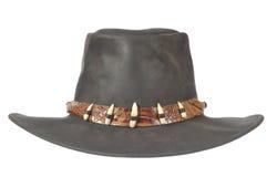 牛仔crocodale帽子牙 免版税库存图片