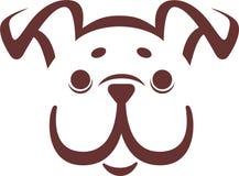 牛头犬小狗向量 免版税图库摄影