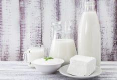 牛奶乳脂干酪酸性稀奶油 免版税库存照片