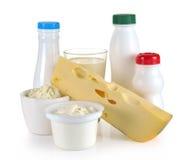 牛奶乳酪酸奶 库存照片