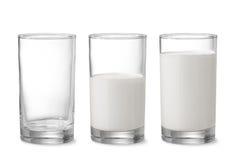 牛奶加满 免版税图库摄影