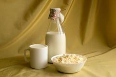 牛奶和凝乳 免版税库存图片