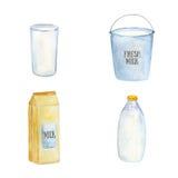 牛奶容器 库存例证