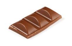 牛奶巧克力三个块在白色的 库存照片