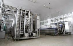 牛奶店工厂 免版税库存图片