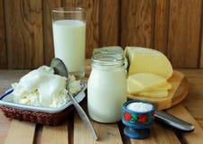 牛奶店空白隔离的产品 免版税库存照片