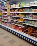 牛奶店空白隔离的产品 免版税库存图片