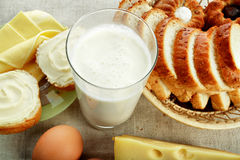 牛奶店粮食产物 库存照片