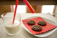 牛奶快餐时间 库存图片