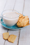 牛奶或牛乳气酒 库存照片