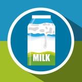 牛奶构思设计 库存图片