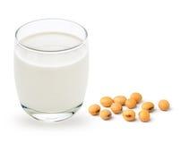 牛奶用大豆豆 免版税图库摄影