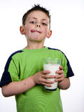 牛奶男孩 免版税库存照片