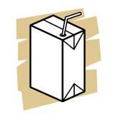 牛奶箱子传染媒介 免版税库存照片