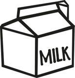 牛奶纸盒传染媒介 皇族释放例证