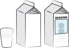 牛奶纸盒 皇族释放例证