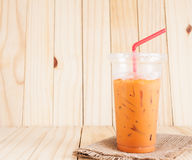 冻牛奶茶甜饮料 免版税库存图片