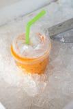 冻牛奶茶甜饮料 库存照片