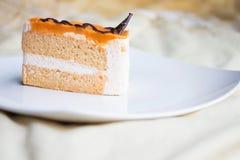 牛奶茶蛋糕 免版税库存照片