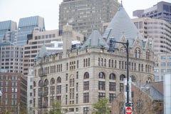 177牛奶街道-美丽的大厦在波士顿-波士顿,马萨诸塞- 2017年4月3日 库存照片