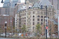 177牛奶街道-美丽的大厦在波士顿-波士顿,马萨诸塞- 2017年4月3日 免版税库存照片