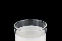 牛奶被隔绝的杯,包括的裁减路线 免版税库存图片