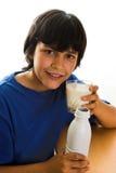 牛奶髭 库存图片