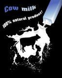 牛奶 广告牛奶 库存例证