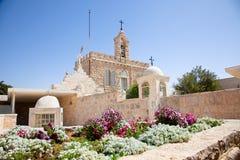 牛奶洞穴教会在伯利恒,巴勒斯坦 免版税库存照片