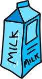 牛奶 皇族释放例证
