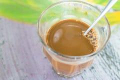 牛奶coffe 库存照片