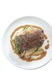牛排用蘑菇和土豆 免版税库存图片