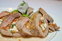 牛排肉卷 图库摄影