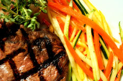 牛排蔬菜 免版税库存照片
